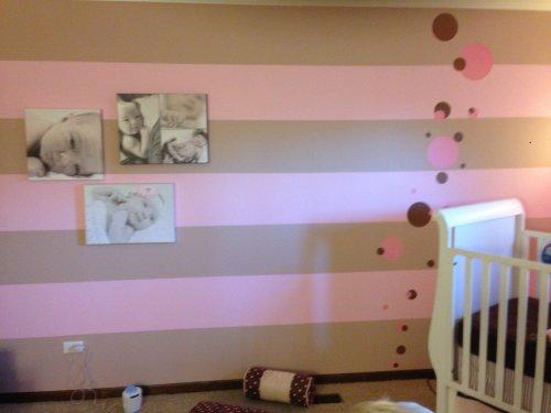 Striping wall art ideas