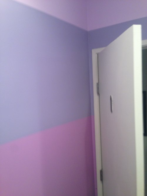 Striping painting wall design