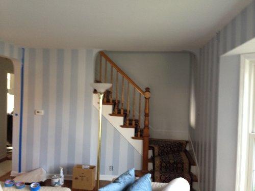 Striping wallpaper