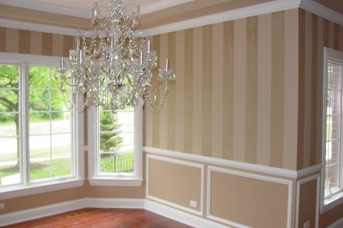 Striping wall decor painting