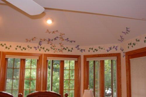 Stenciling amazing interior wall design