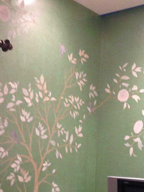 Stenciling wall art ideas